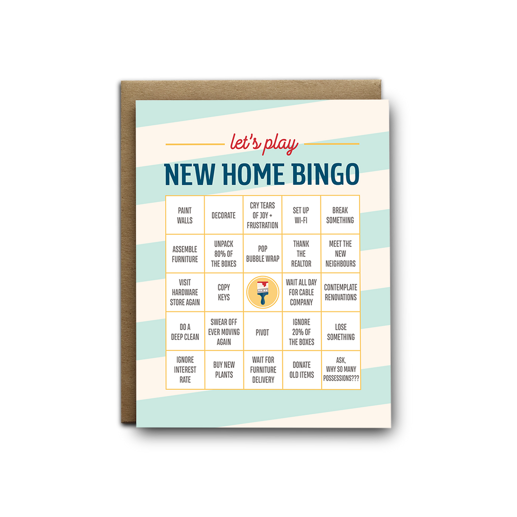 Let's play new home bingo greeting card