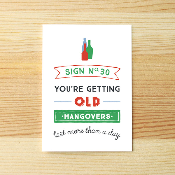 You're old, hangovers