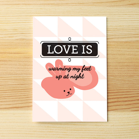 Love is warm feet