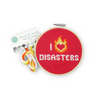 red i heart disasters diy cross stitching kit