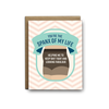 You're the spanx of my life friendship greeting card