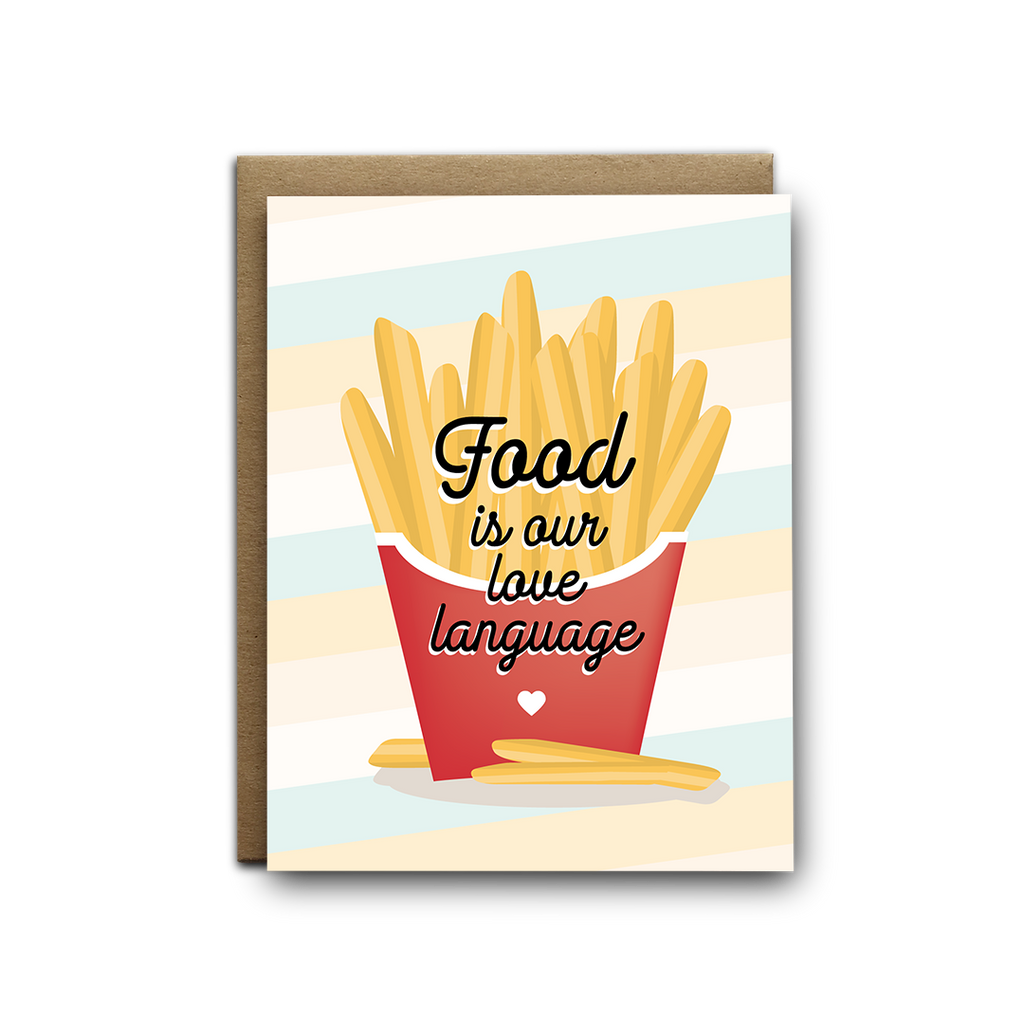 Food is our love language greeting card