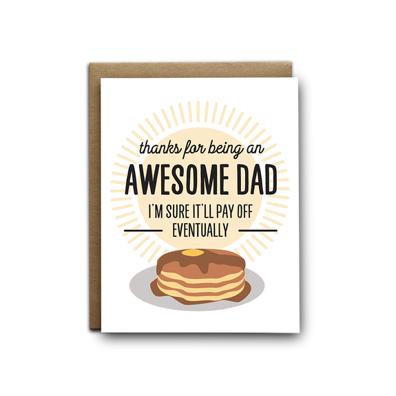 Awesome dad Father's Day greeting card