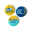 Procrastinate, I got out of bed for this, not today satan magnet set