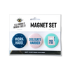 Work hard, delegate harder, pass it on magnet set