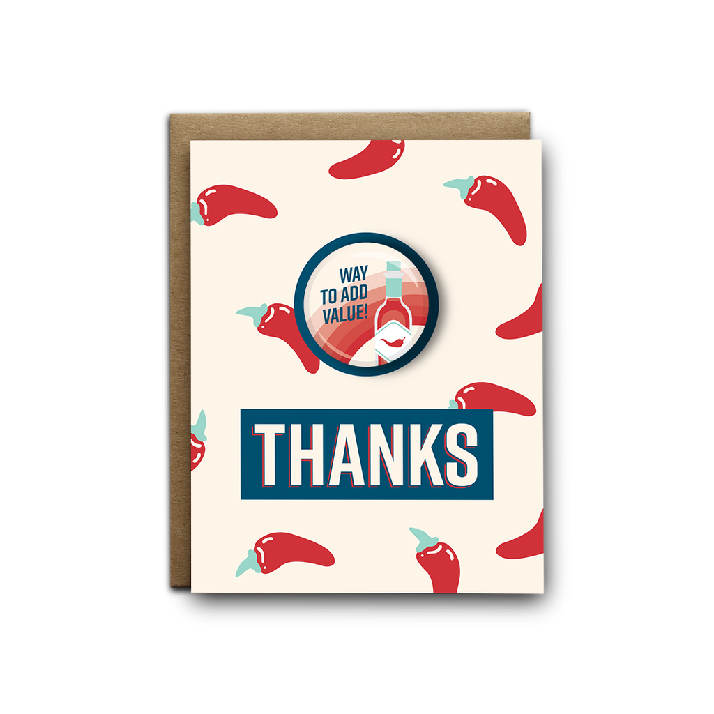 Way to add value thank you magnet greeting card