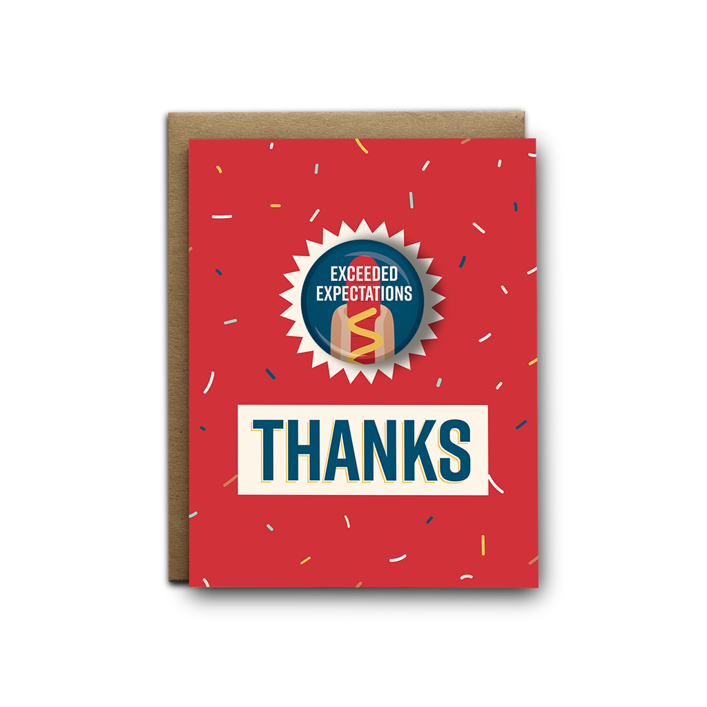 Exceeded expectations thank you magnet greeting card