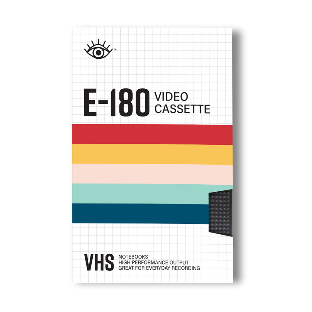 VHS notebook set with cover