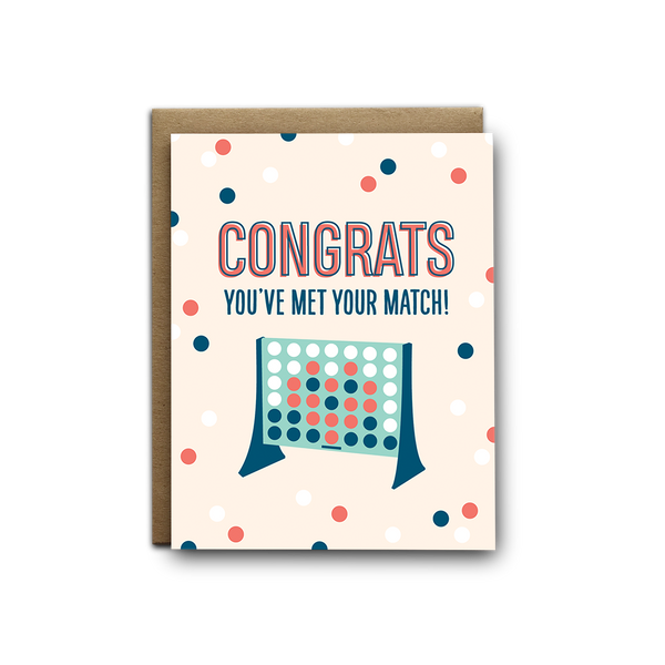 Congrats you've met your match wedding greeting card