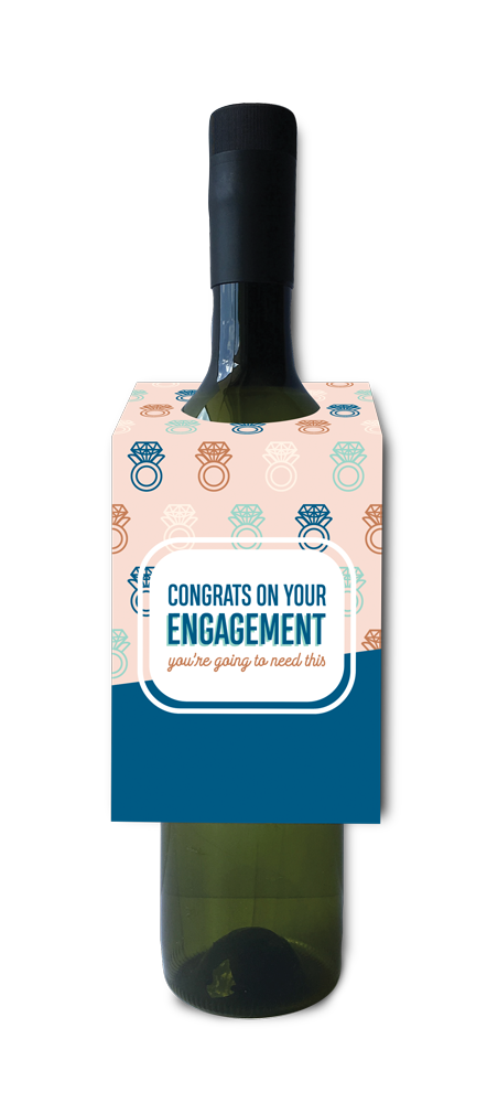 Congrats on your engagement, you're going to need this wine and spirit tag