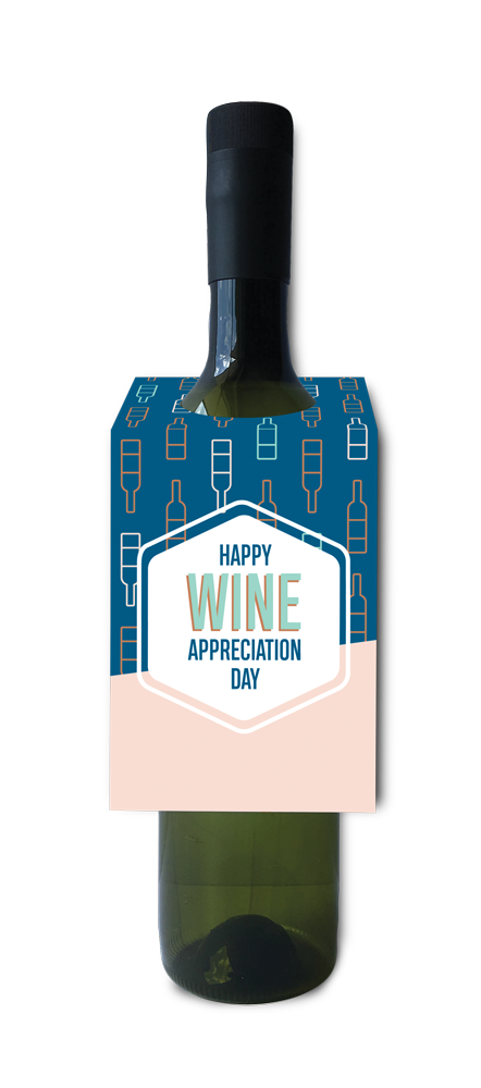 Happy wine appreciation day wine and spirit tag