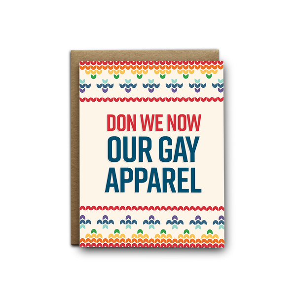 Don we now our gay apparel Christmas greeting card