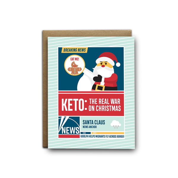 Keto, the real war on Christmas greeting card