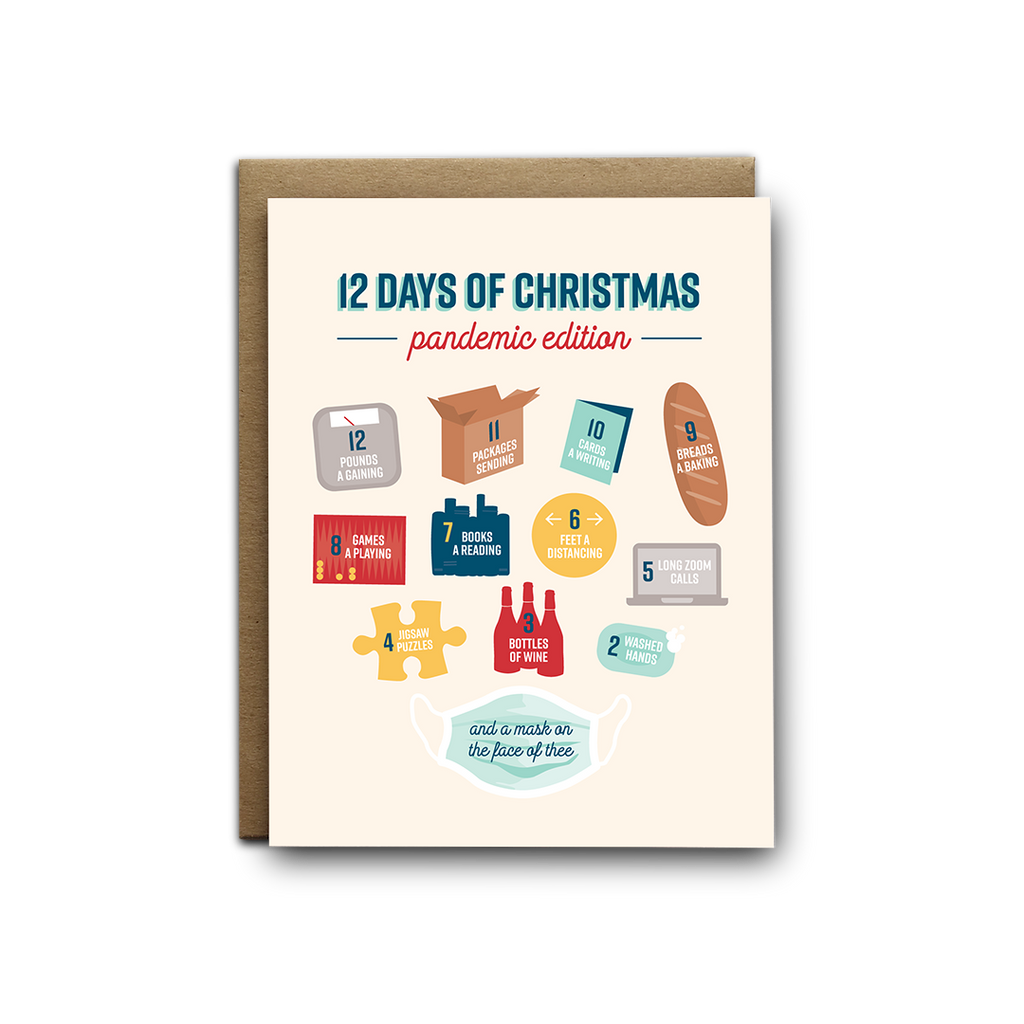 12 days of Christmas, pandemic edition greeting card