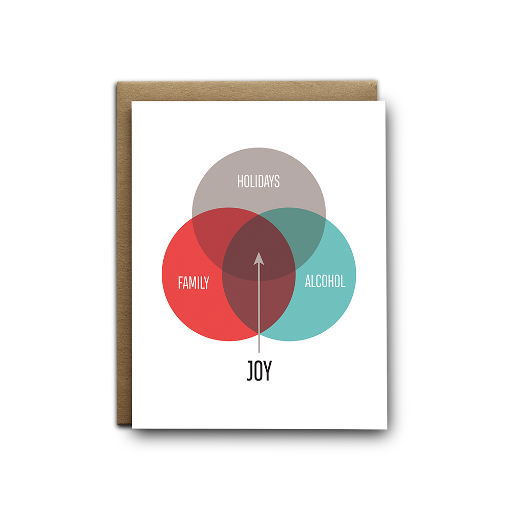 Venn joy Christmas greeting card
