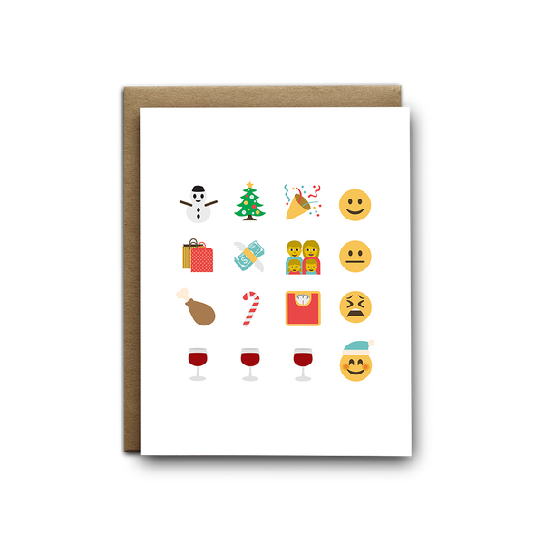 Emoji Christmas story greeting card