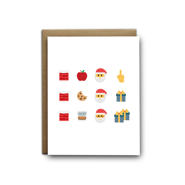 Emoji Santa story Christmas greeting card
