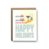 All is loud, all is blurry Christmas greeting card