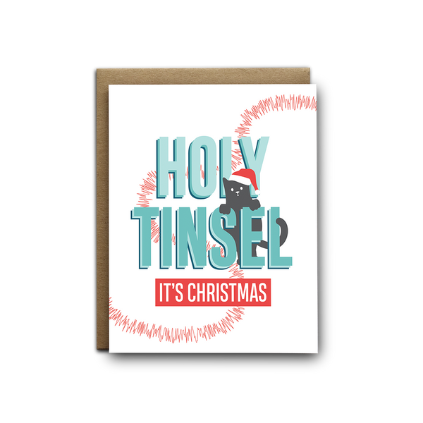 Holy tinsel it's Christmas greeting card