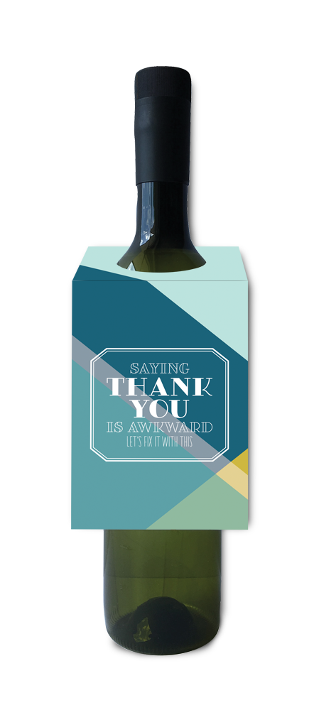 Saying thank you is awkward let's fix it with this wine and spirit tag