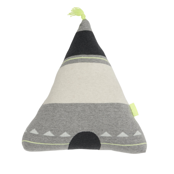 oyoy - wigwam cushion yellow top