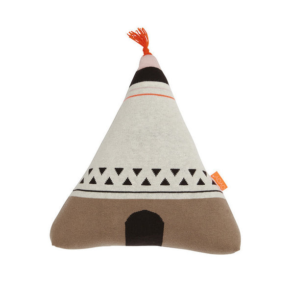 oyoy - wigwam cushion neon orange
