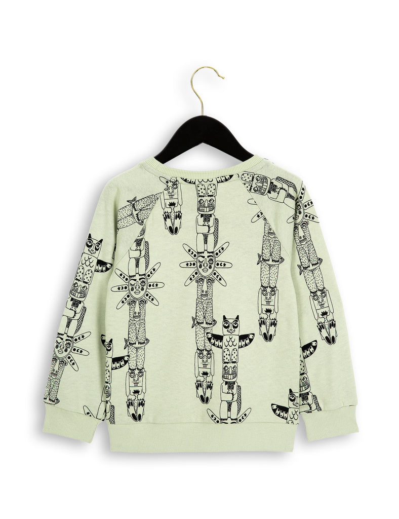 Mini Rodini - green totem sweatshirt