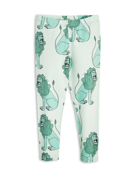 mini rodini - light green lion leggings