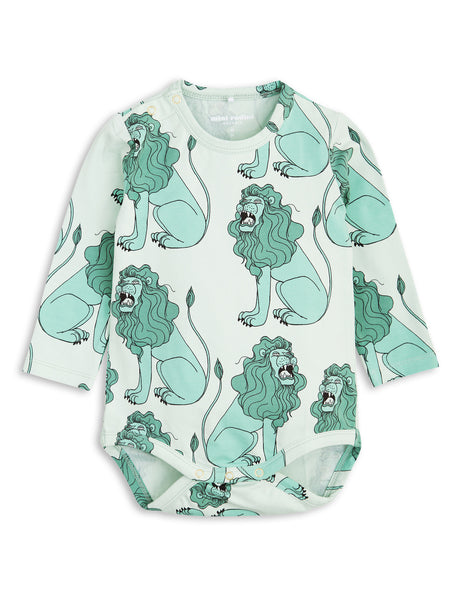 mini rodini - light green lion long sleeve body