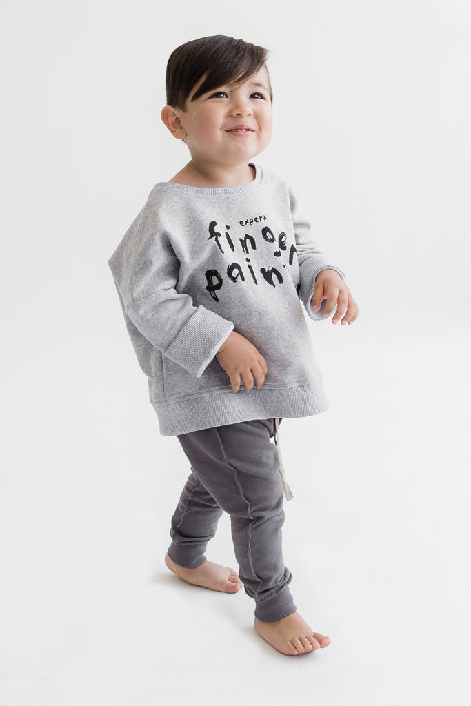 Kid and Kind - Oversized Finger Painter Sweatshirt