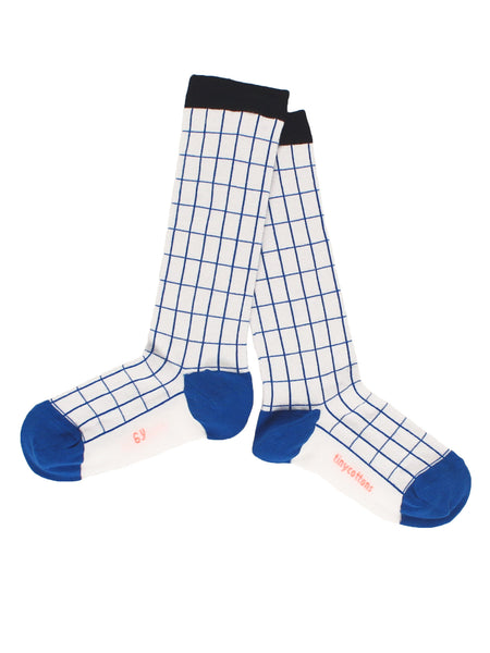 tiny cottons - grid high socks