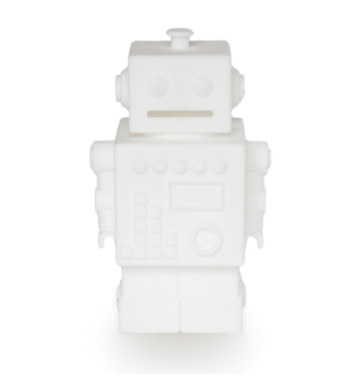 kg design - white robot money bank