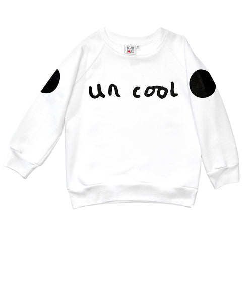 "Beau Loves - white ""un cool"" sweatshirt"