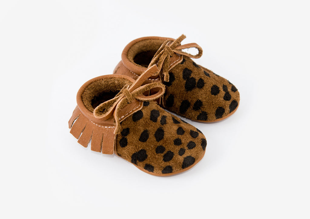 Amy and Ivor -  Cheetah Mocassins