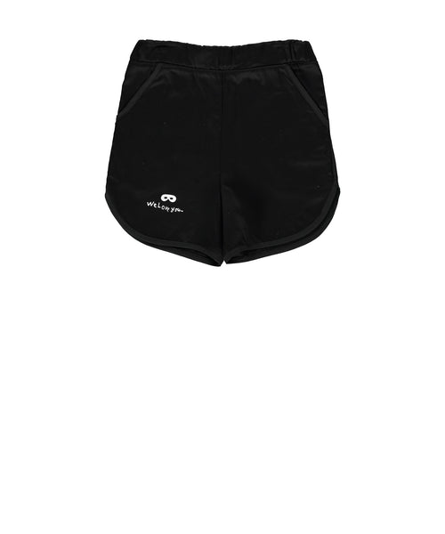 beau loves - black old school cotton shorts