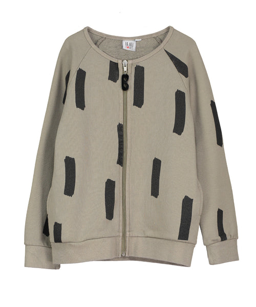 beau loves - olive zip jacket