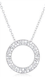 Circle of Life - Silver Necklace with Crystals