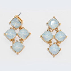 Gemstone Opal Chandelier Evening Earrings - Shining Bee