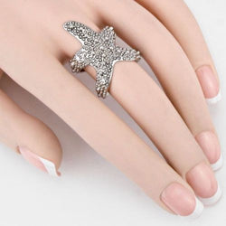 Starfish Adjustable Ring - Silver