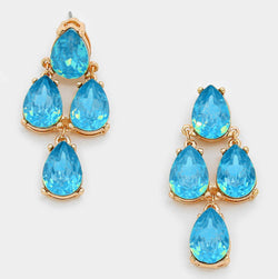 Gemstone Opal Teardrop Cluster Earrings - Shining Bee