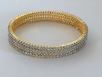 Shining Bee Fashion Jewelry Set of Two Simulated Diamond Bangles D-21