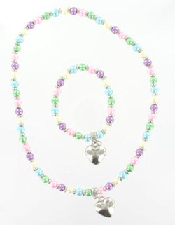 Pearl Bead & Heart Set Mix