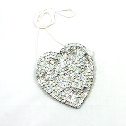 Sequin Heart Bag Silver