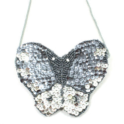 Sequin Butterfly Bag Grey