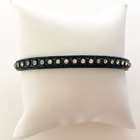 Swarovski crystal leather bracelet