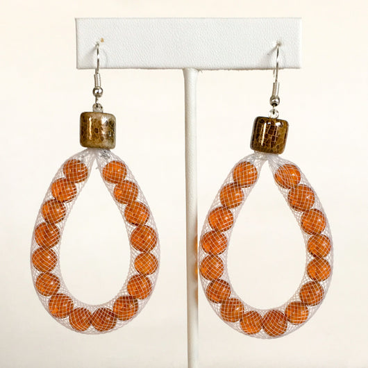 Mesh Tube Bead Earrings