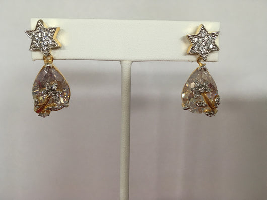 Shining Bee Fashion Jewelry Simulated Diamond/Gemstone Earrings E-3