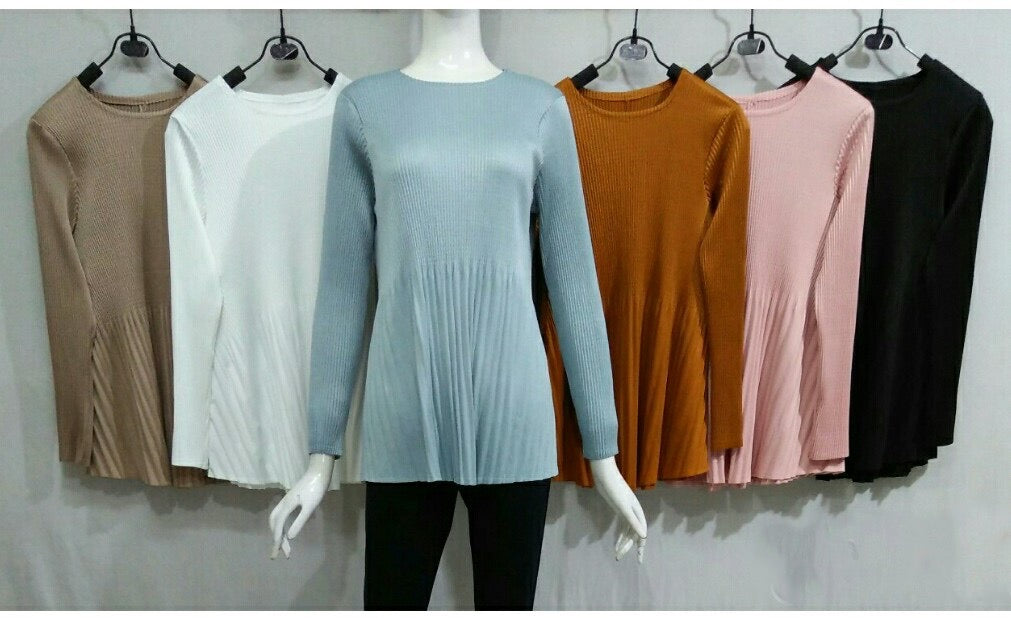 Babydoll Pleated Top (T2) - (Back-Order, will arrive end of Nov)