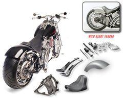Wide Tire Swing Arm Fender Conversion