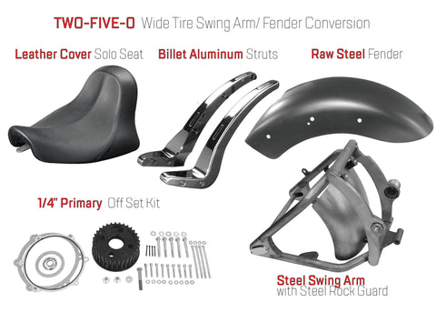 "1/4"" Primary Off Set Kit with 250 Wide Tire Conversion Parts"
